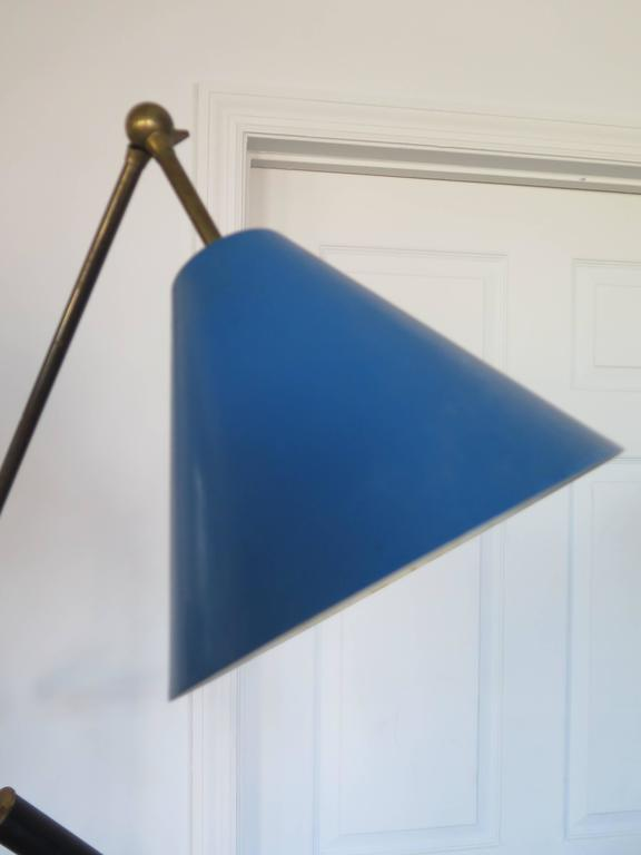 "Mid-Century Modern Original Arredoluce ""Triennale"" Three Arm Floor Lamp For Sale"