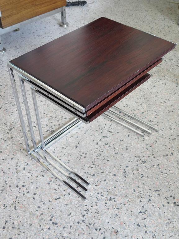Dutch Set of Rosewood Nesting Tables For Sale