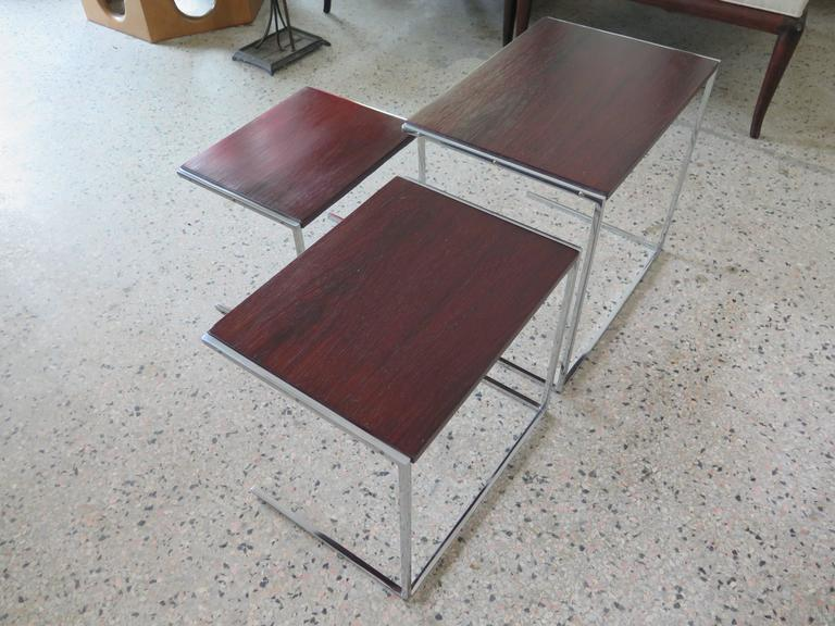 Set of Rosewood Nesting Tables For Sale 1