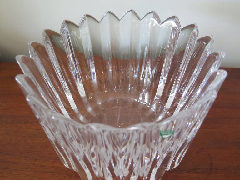 "Orrefors ""Crown"" Heavy Crystal Bowl 5"