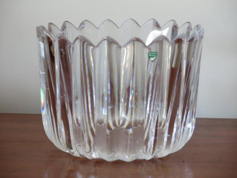 "Orrefors ""Crown"" Heavy Crystal Bowl 6"