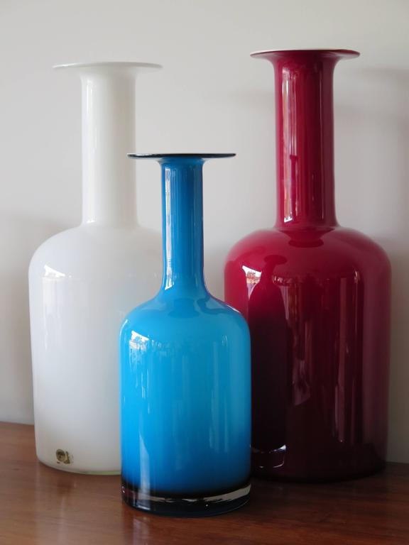Glass Bottle Vases by Kastrup Holegaard 9