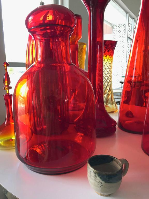 American Collection of Large Blenko Glass Pieces For Sale