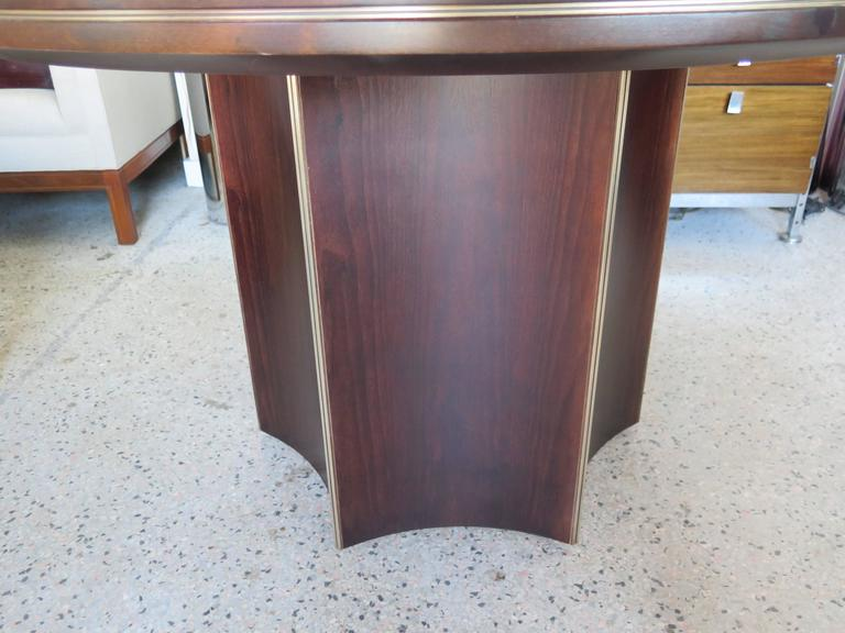 Unusual Center Table by McGuire with Brass Details 3