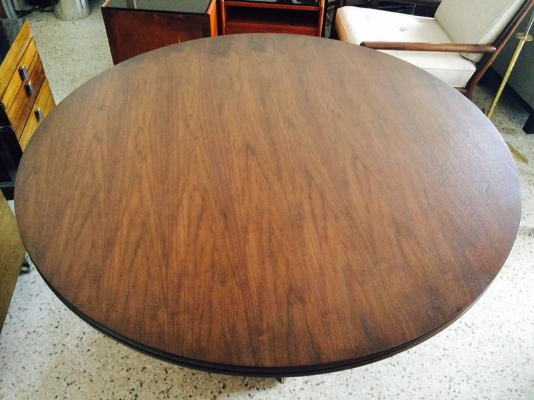 Unusual Center Table by McGuire with Brass Details 6