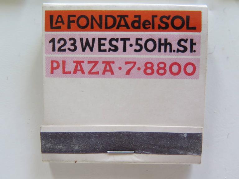 Alexander Girard La Fonda Del Sol Matchbook Cover Collection 3