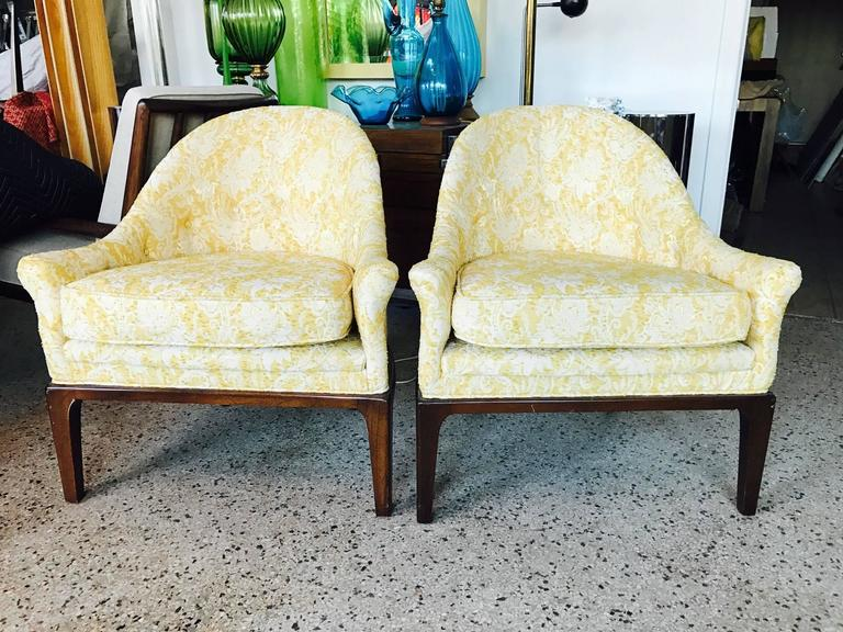 Modern Pair of Elegant Tub Chairs by Henredon For Sale