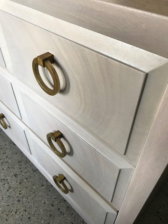 T.H. Robsjohn-Gibbings Dresser with Matching Nightstands Custom Finish 5