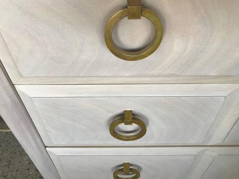 T.H. Robsjohn-Gibbings Dresser with Matching Nightstands Custom Finish 6