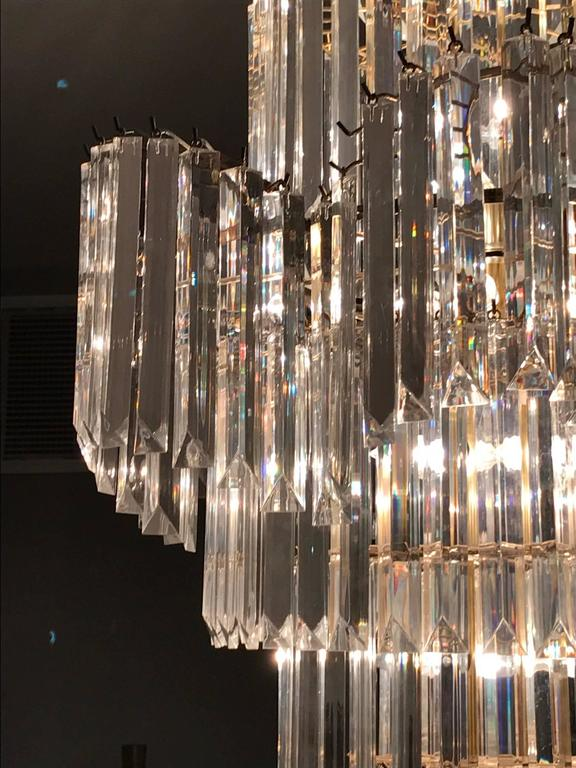 Massive Eight-Tier Lucite Camer Style Chandelier by Triarch For Sale 1