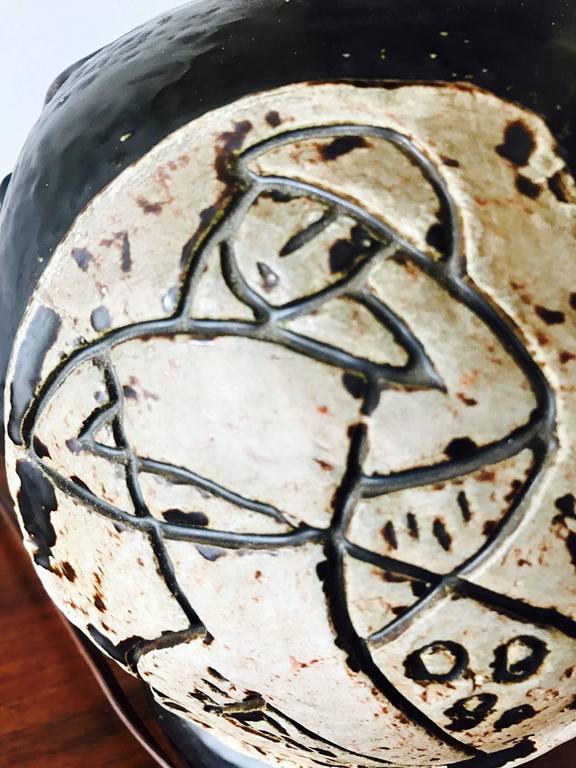 American Unusual 1950s Ceramic Lamp For Sale
