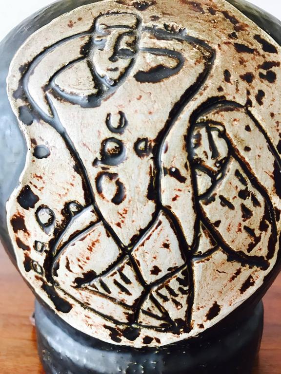 Unusual 1950s Ceramic Lamp For Sale 1