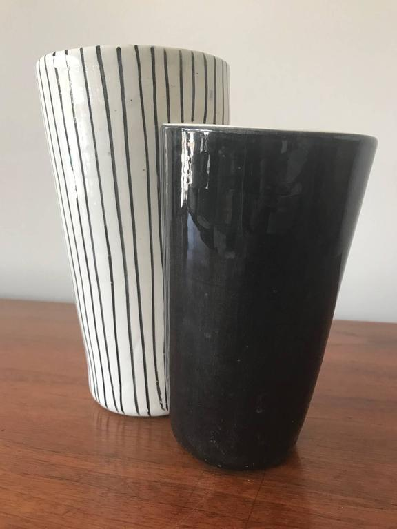 Mid-Century Modern Ceramic Vase by Mancioli, Italy, circa 1960s For Sale