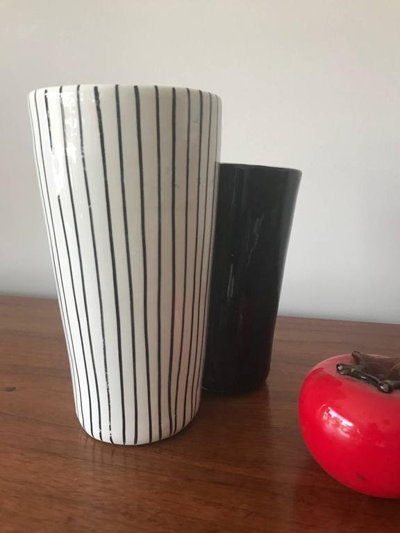 Ceramic Vase by Mancioli, Italy, circa 1960s In Good Condition For Sale In St.Petersburg, FL