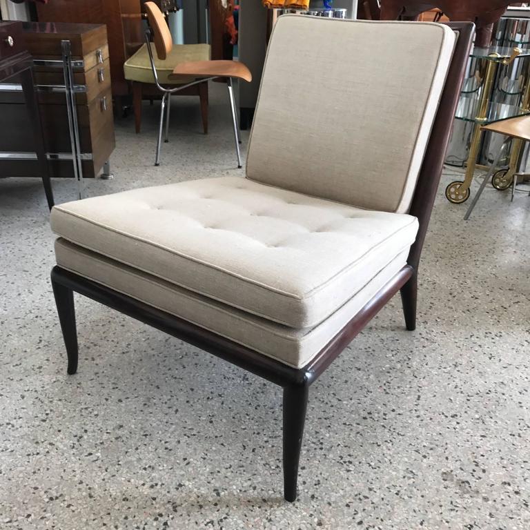 Pair of T.H. Robsjohn-Gibbings Slipper Chairs for Widdicomb 2