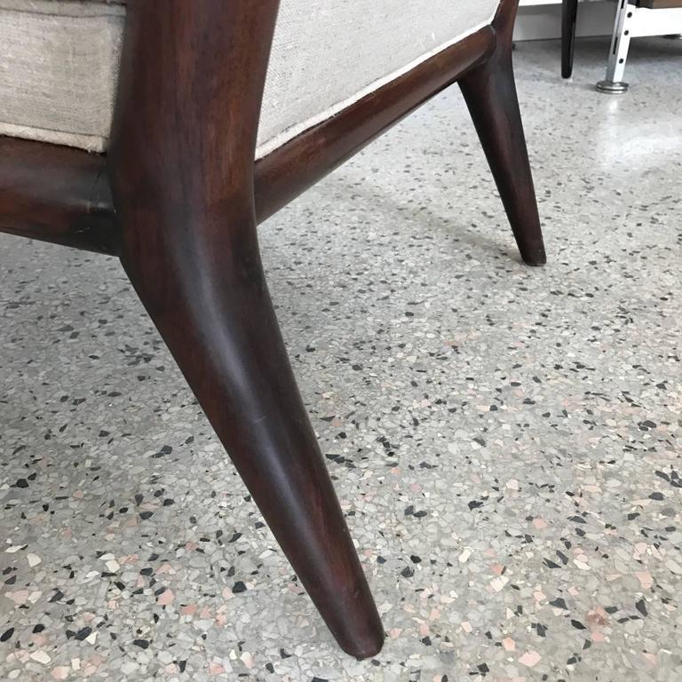 Pair of T.H. Robsjohn-Gibbings Slipper Chairs for Widdicomb 3
