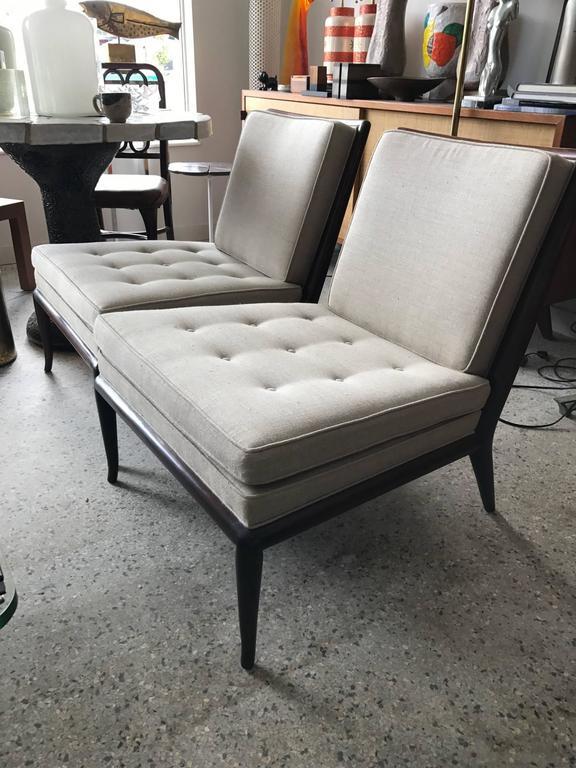 Pair of T.H. Robsjohn-Gibbings Slipper Chairs for Widdicomb 5