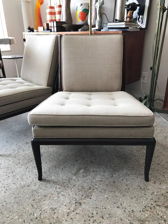 Pair of T.H. Robsjohn-Gibbings Slipper Chairs for Widdicomb 6
