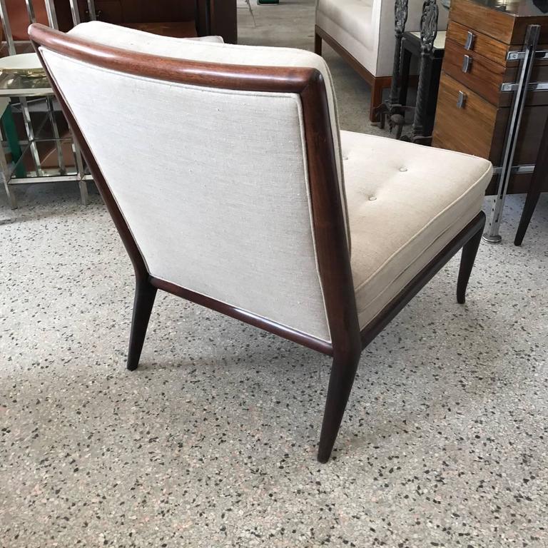 Pair of T.H. Robsjohn-Gibbings Slipper Chairs for Widdicomb 8
