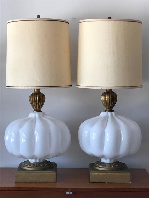 Pair of Unusual Cased Glass Lamps 3