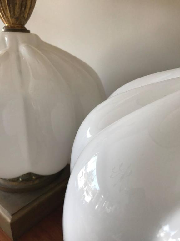 Pair of Unusual Cased Glass Lamps 4
