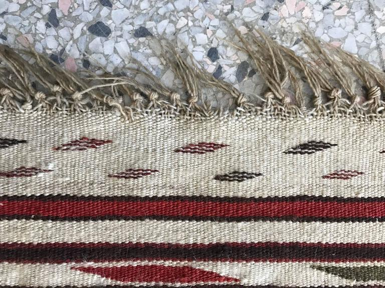 Rare Mexican Saltillo Sarape Traditional Woven Blanket, ca' 1910-1920's 4
