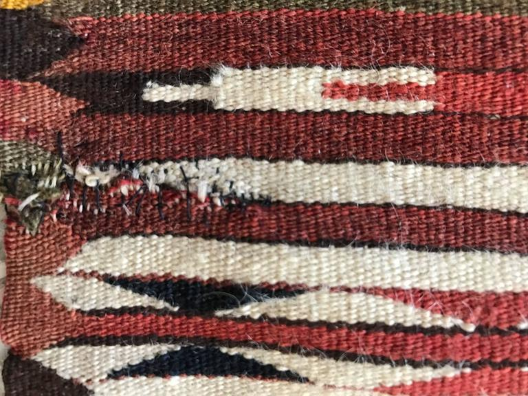 Rare Mexican Saltillo Sarape Traditional Woven Blanket, ca' 1910-1920's 6