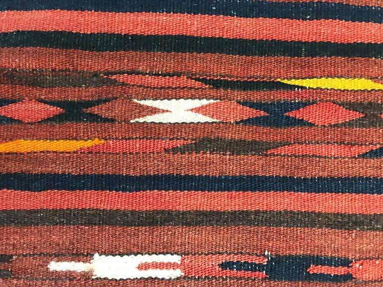 Rare Mexican Saltillo Sarape Traditional Woven Blanket, ca' 1910-1920's 7