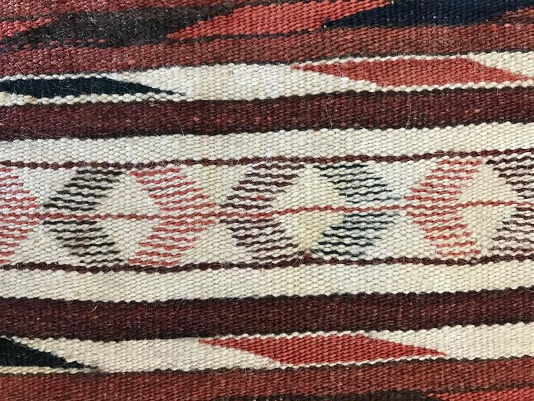 Rare Mexican Saltillo Sarape Traditional Woven Blanket, ca' 1910-1920's 8