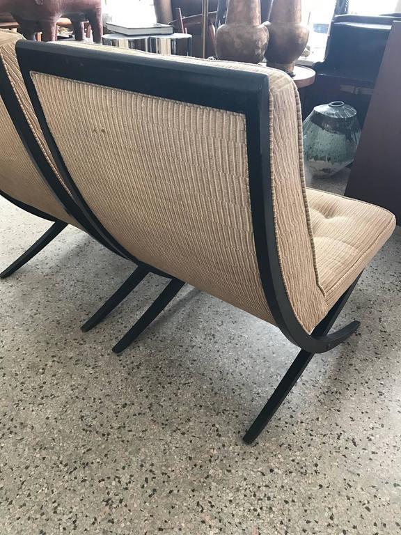 Pair of Elegant Scissor Chairs For Sale 1