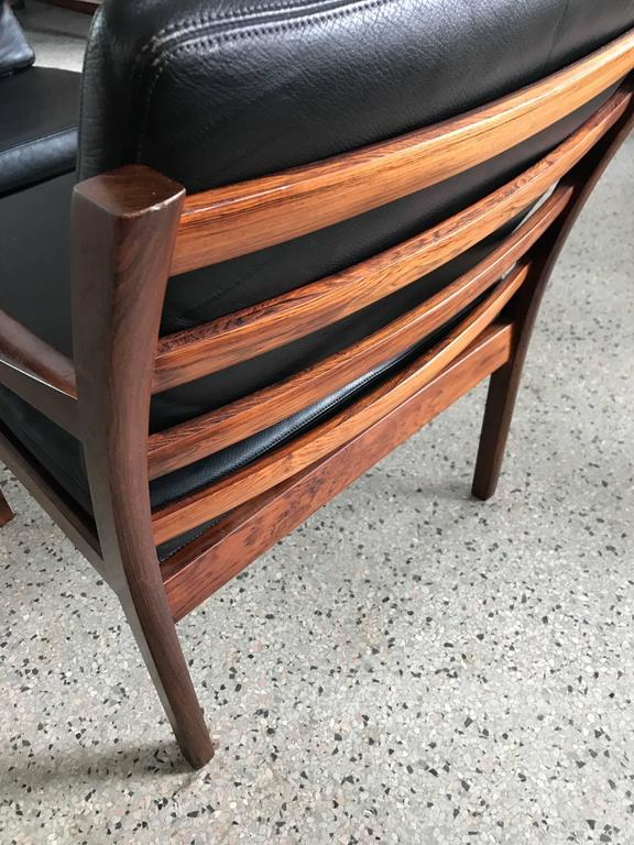 Pair of Fredrik Kayser Rosewood Chairs For Sale 1