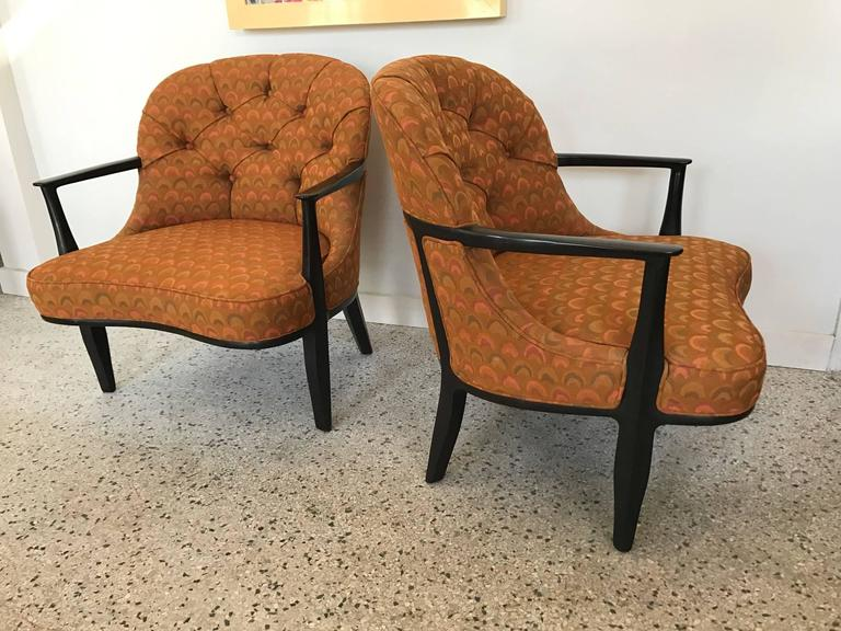 Pair of Classic Dunbar Janus Armchairs in Larsen Fabric In Good Condition For Sale In St.Petersburg, FL