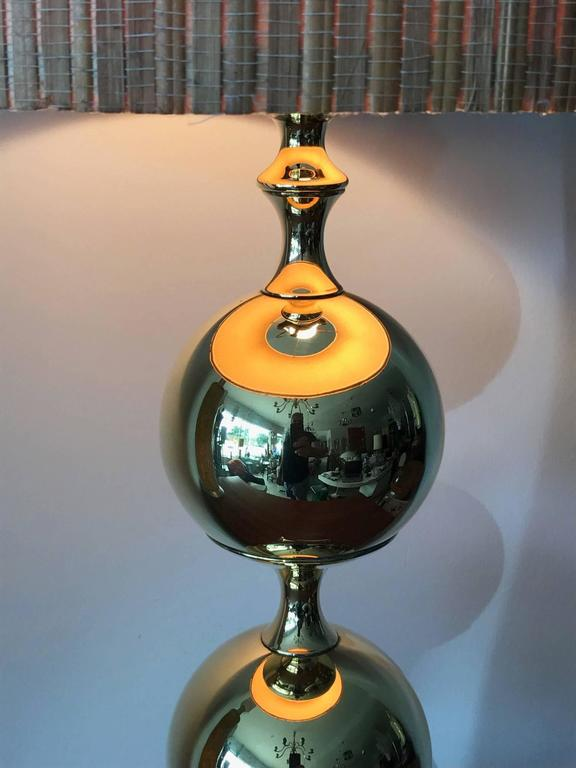 Unusual Polished Brass Lamp by Tower Craftsman 5