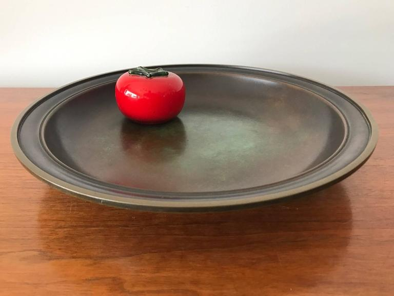 Large Just Andersen Patinated Bronze Charger 2