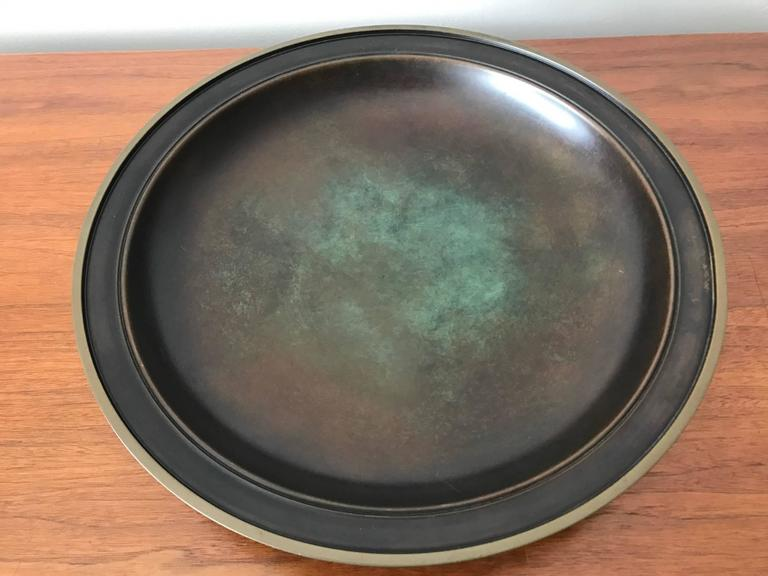 Large Just Andersen Patinated Bronze Charger 3