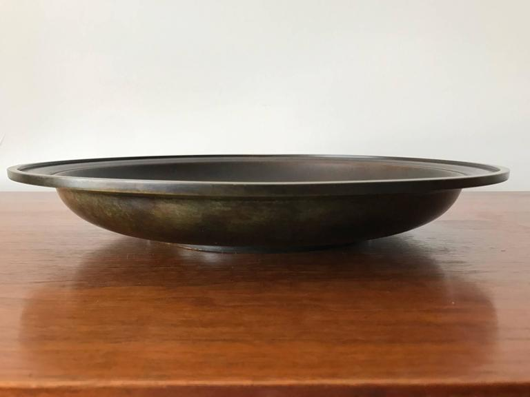 Large Just Andersen Patinated Bronze Charger 6