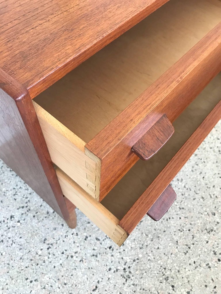Poul Volther Danish Small Chest 1960s FDB Mobler Denmark Teak and Oak 4