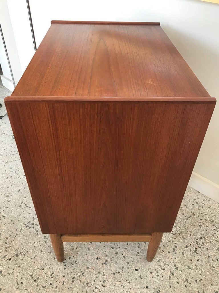 Poul Volther Danish Small Chest 1960s FDB Mobler Denmark Teak and Oak 6