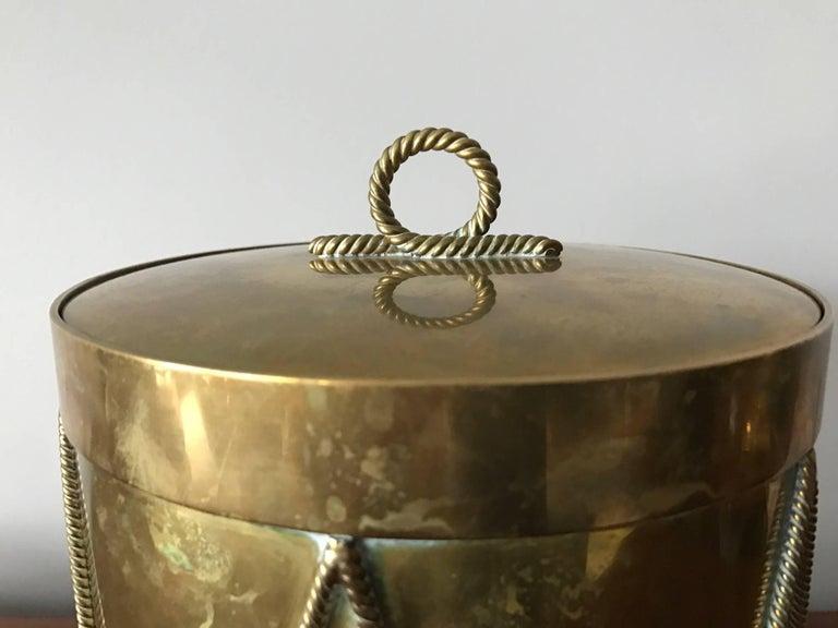 Vintage Italian Brass Drum Ice Bucket 3
