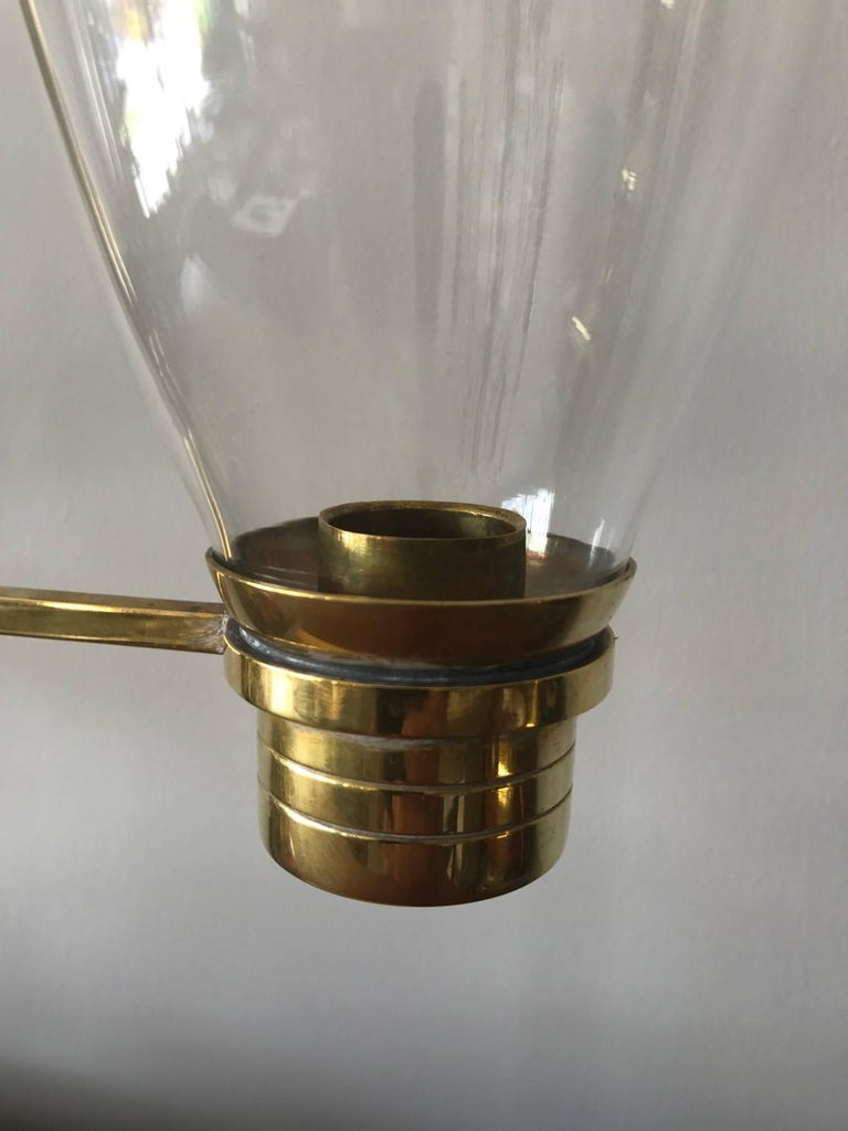 Pair of Tommi Parzinger Hurricane Lamps For Sale 2