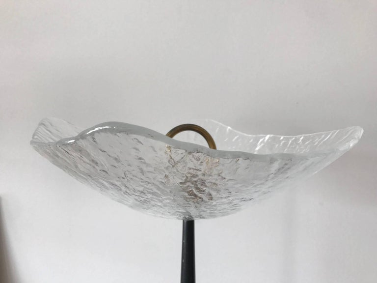 Mid-Century Modern Unusual Italian Gueridon with Moulded Glass Top For Sale