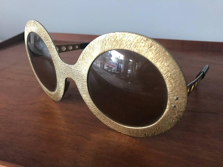Late 20th Century Pair of Vintage French 1970s Sunglasses For Sale