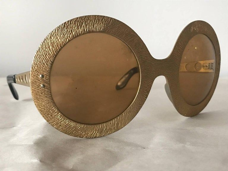 Pair of Vintage French 1970s Sunglasses For Sale 1