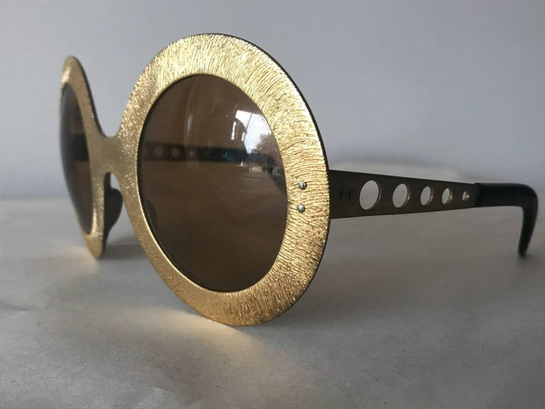 Pair of Vintage French 1970s Sunglasses For Sale 2
