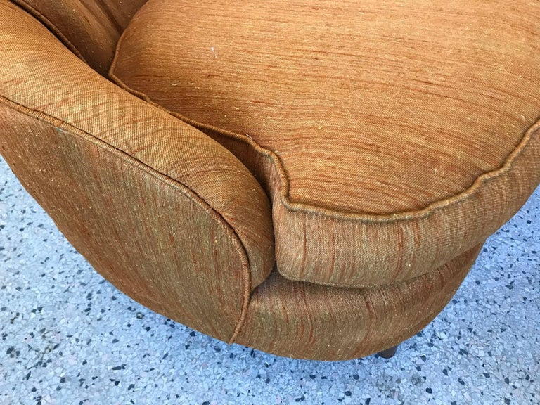 American Pair of Karpen High Back Slipper Chairs For Sale