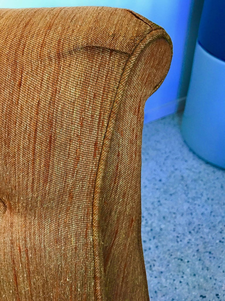 Pair of Karpen High Back Slipper Chairs For Sale 1