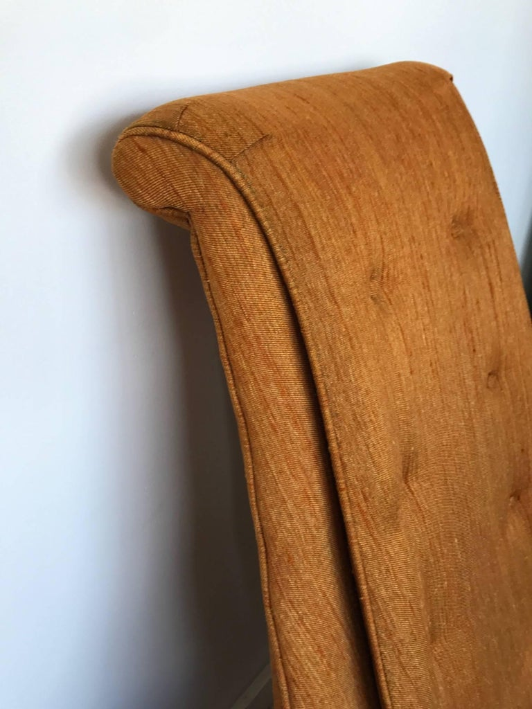 Pair of Karpen High Back Slipper Chairs For Sale 4