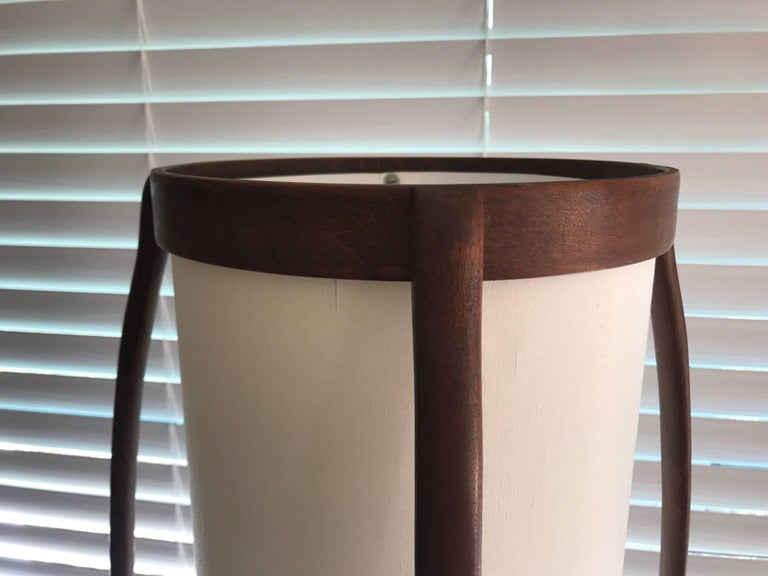 Organic Modern Modeline Sculptural Walnut Mid-Century Modern Floor Lamp For Sale