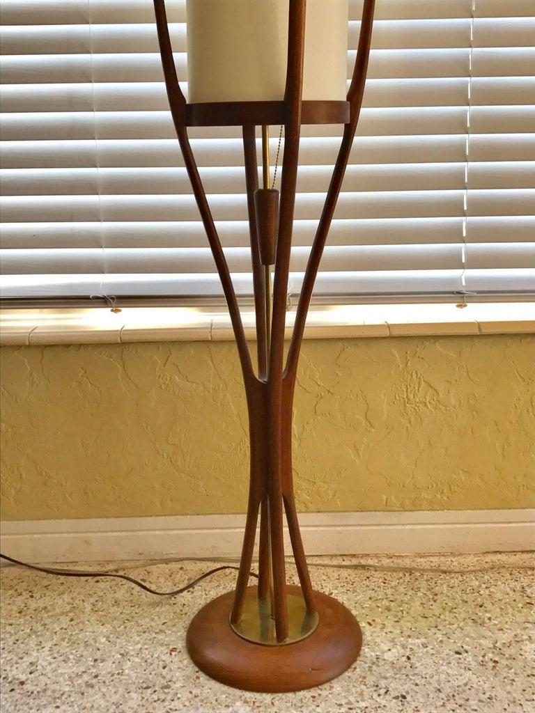 Modeline Sculptural Walnut Mid-Century Modern Floor Lamp For Sale 3