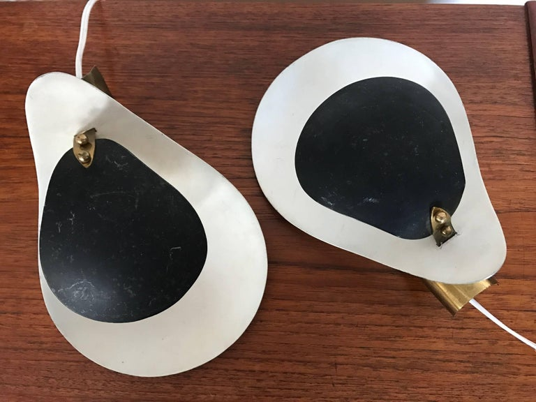 Pair of Unusual Italian Sconces, circa 1950s In Good Condition For Sale In St.Petersburg, FL